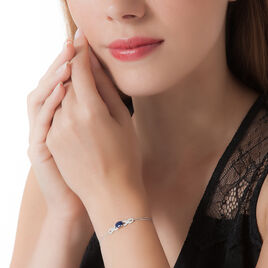 Bracelet Oceania Or Blanc Saphir Et Diamant - Bijoux Femme   Histoire d'Or