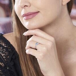 Bague Lilia Or Blanc Topaze - Bagues avec pierre Femme | Histoire d'Or
