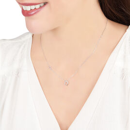 Collier Louise Or Blanc Diamant - Colliers Coeur Femme   Histoire d'Or