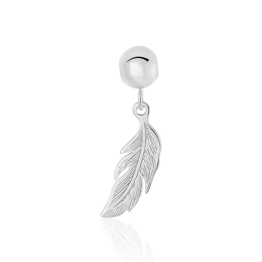 Charms Hedy Or Blanc - Pendentifs Plume Femme | Histoire d'Or