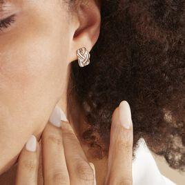 Boucles D'oreilles Puces Leopoldine Or Jaune Diamant - Boucles d'oreilles pendantes Femme | Histoire d'Or