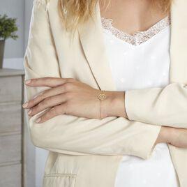 Bracelet Laria Plaque Or Jaune - Bracelets fantaisie Femme   Histoire d'Or