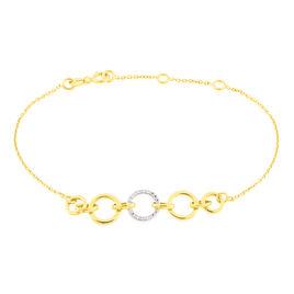 Bracelet Lutzele Or Bicolore Oxyde De Zirconium - Bijoux Femme | Histoire d'Or