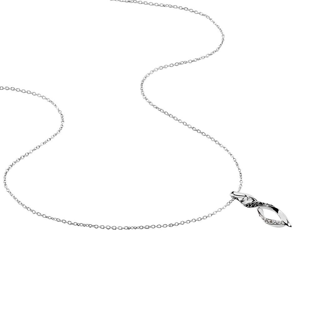 Collier Claudia Argent Blanc Oxyde De Zirconium - Colliers fantaisie Femme | Histoire d'Or