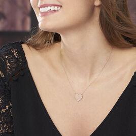Collier Coeur Gravable Or Rose - Colliers Coeur Femme | Histoire d'Or