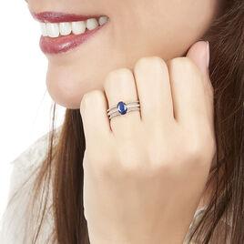 Bague Andrea Or Blanc Saphir Et Diamant - Bagues avec pierre Femme | Histoire d'Or