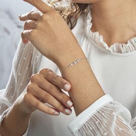 Bracelet Cristof Argent Rhodié Oxyde - Bracelets fantaisie Femme | Histoire d'Or