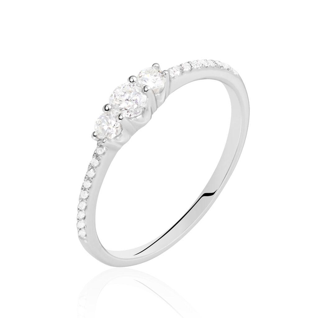 Bague Sabine Or Blanc Diamant - Bagues avec pierre Femme | Histoire d'Or
