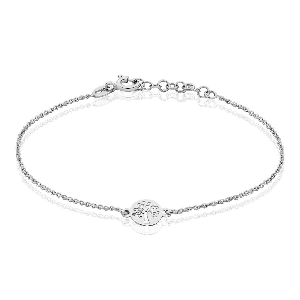 Bracelet Audrey-rose Argent Blanc - Bracelets Arbre de vie Femme | Histoire d'Or