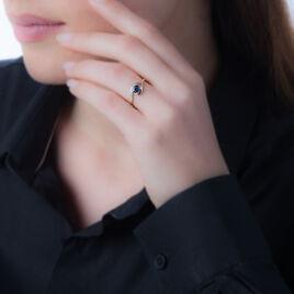 Bague Sagesse Or Jaune Saphir Et Diamant - Bagues solitaires Femme   Histoire d'Or