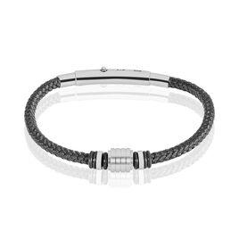 Bracelet Simon Acier Blanc - Bracelets fantaisie Homme   Histoire d'Or