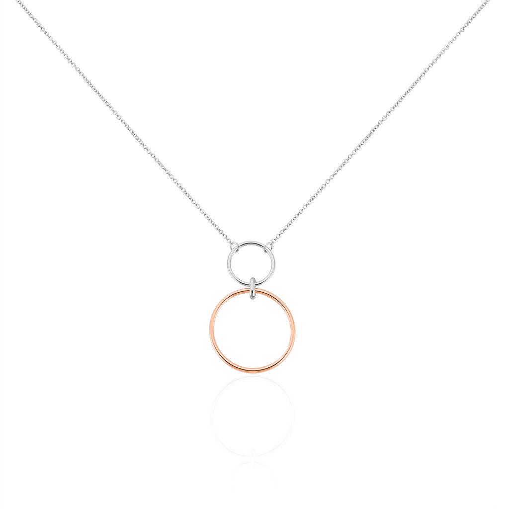 Collier Maneiza Argent Bicolore - Colliers fantaisie Femme   Histoire d'Or