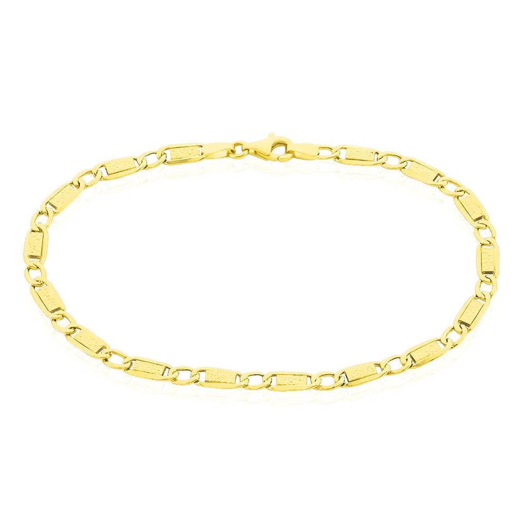 Bracelet Anouch Plaquette Or Jaune - Bracelets chaîne Femme | Histoire d'Or