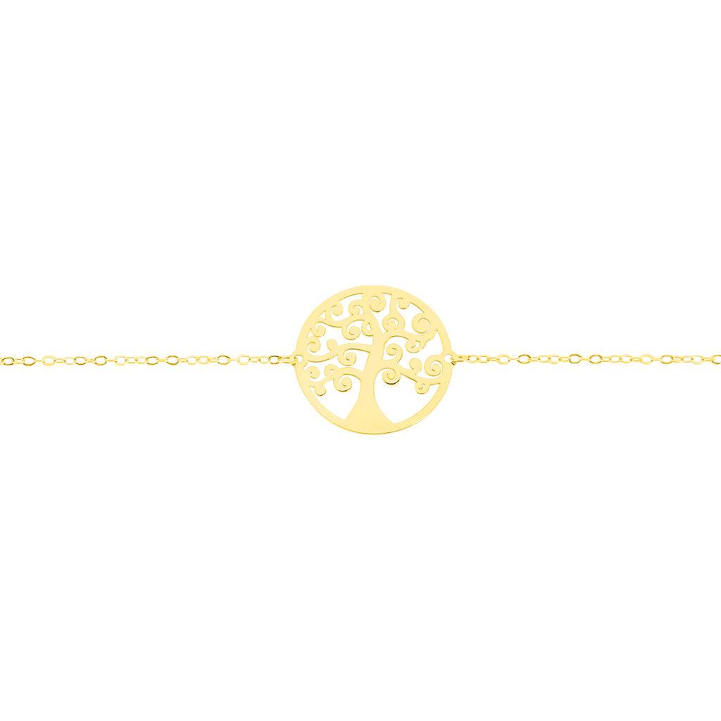 Bracelet Clemenca Or Jaune - Bracelets Arbre de vie Femme   Histoire d'Or