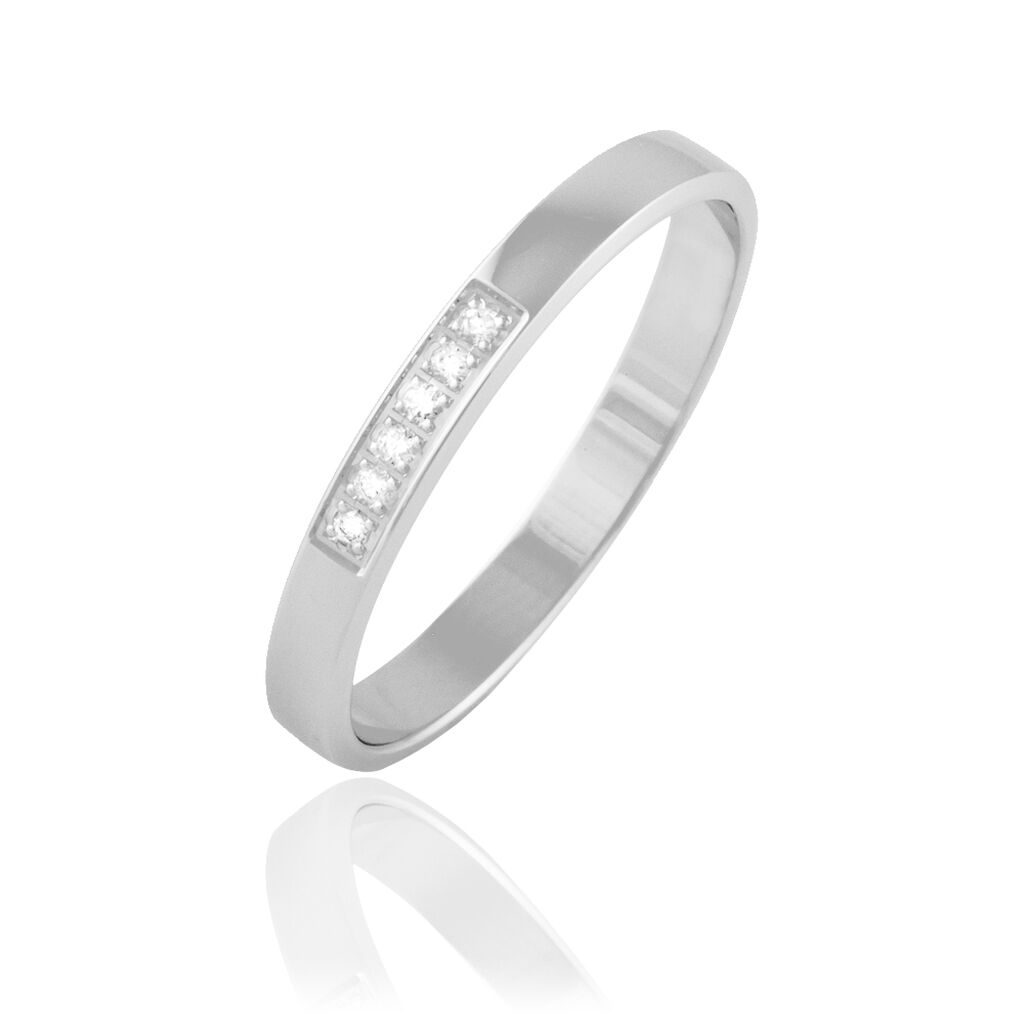 Alliance Manea Or Blanc Diamant - Alliances Femme | Histoire d'Or