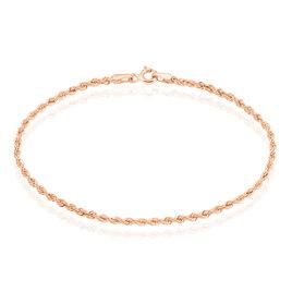 Bracelet Jerry Maille Corde Or Rose - Bracelets chaîne Femme | Histoire d'Or