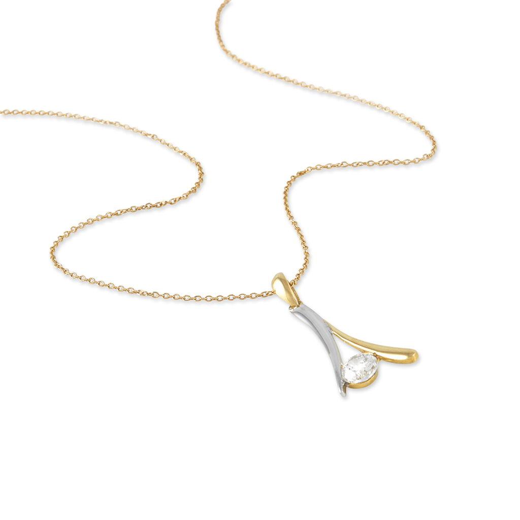 Collier Formev Or Bicolore Oxyde De Zirconium - Bijoux Femme | Histoire d'Or