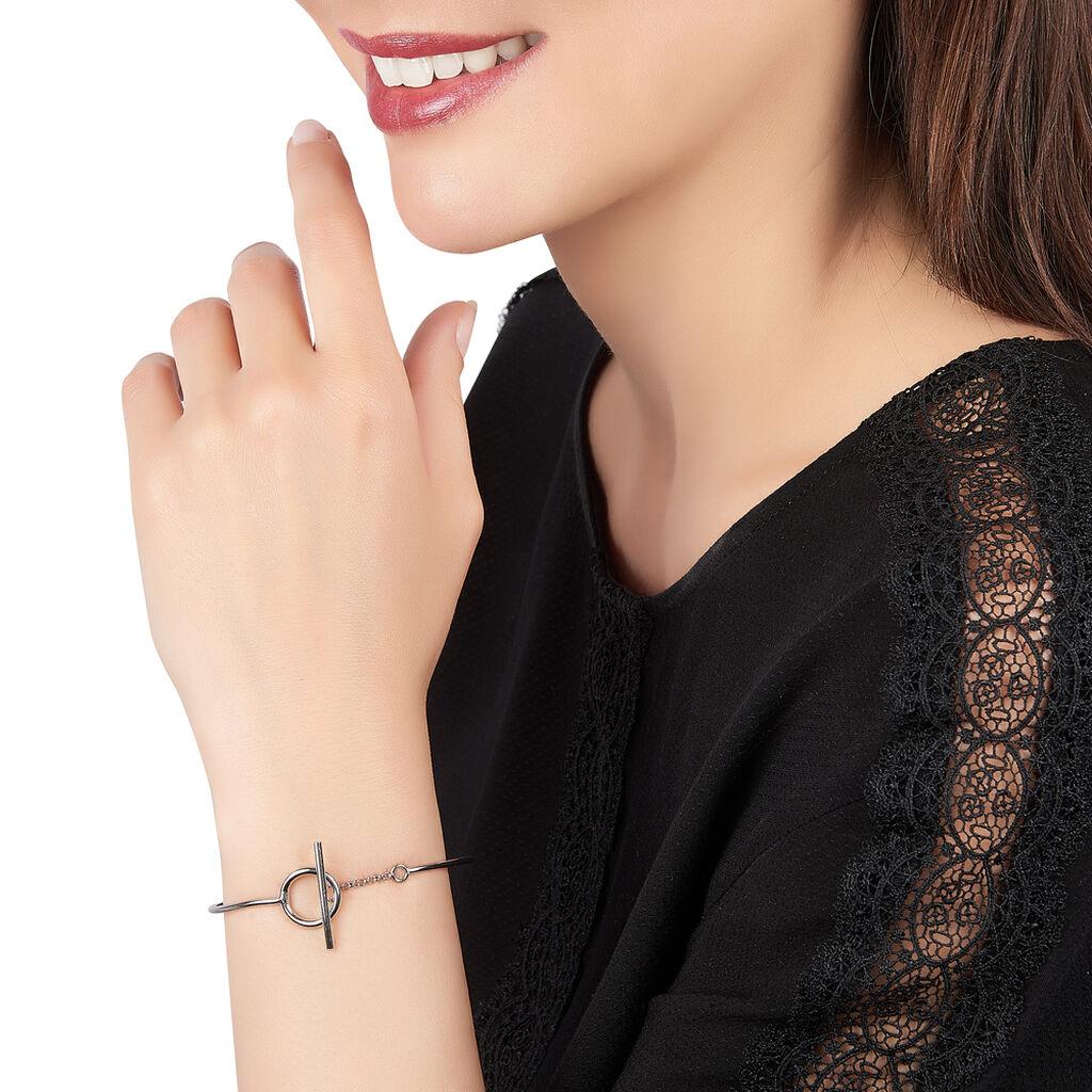 Bracelet Jonc Marie-capucine Argent Blanc - Bracelets fantaisie Femme   Histoire d'Or