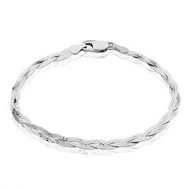 Bracelet Elae Maille Tresse Argent Blanc - Bracelets chaîne Femme   Histoire d'Or