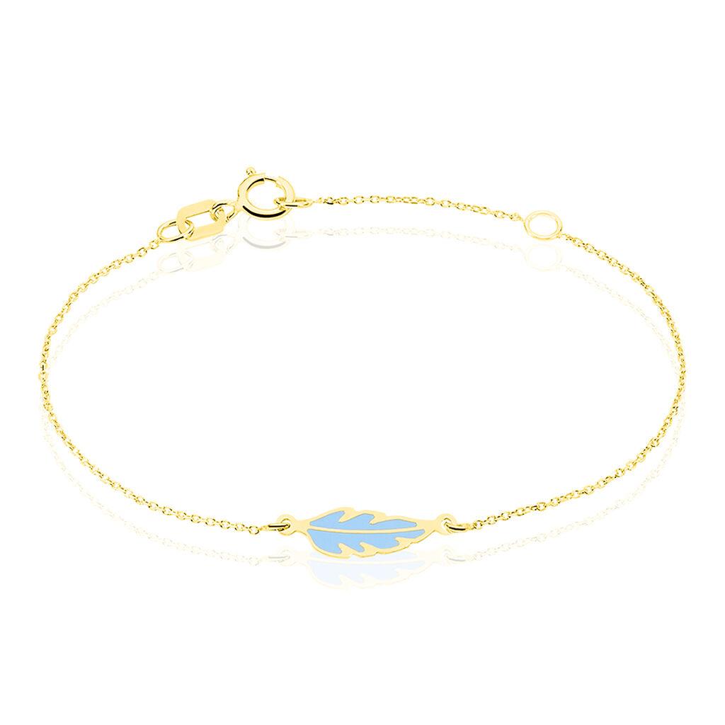 Bracelet Marion Plume Or Jaune - Bracelets Naissance Enfant   Histoire d'Or