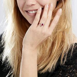 Bague Lisea Plaque Or Jaune Verre Et Oxyde De Zirconium - Bagues solitaires Femme | Histoire d'Or