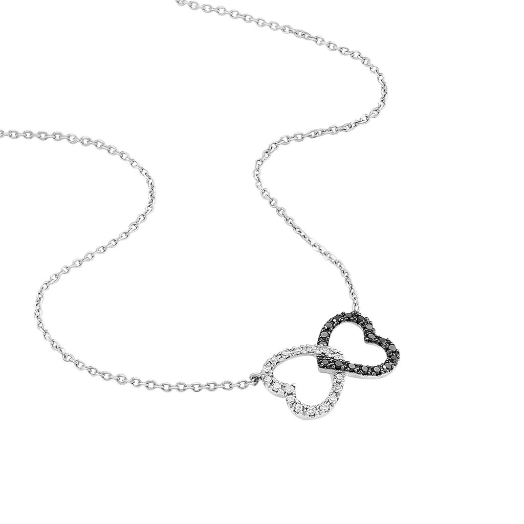 Collier Miranda Or Blanc Diamant - Colliers Coeur Femme | Histoire d'Or