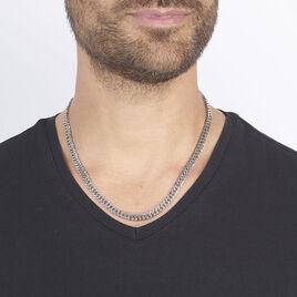 Collier Acier Maillons Moyens - Colliers fantaisie Homme   Histoire d'Or