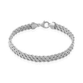 Bracelet Jerry Maille Corde 3 Rangs Or Blanc - Bracelets chaîne Femme   Histoire d'Or