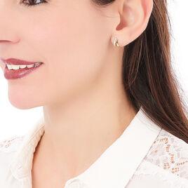 Boucles D'oreilles Puces Julita Plaque Or Jaune - Boucles d'oreilles fantaisie Femme | Histoire d'Or