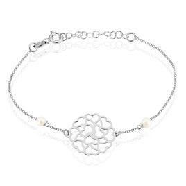 Bracelet Elza Argent Blanc Perle De Culture - Bracelets Coeur Femme | Histoire d'Or