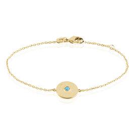 Bracelet Plaqué Or Jaune Rae Pierre De Synthese - Bracelets fantaisie Femme   Histoire d'Or