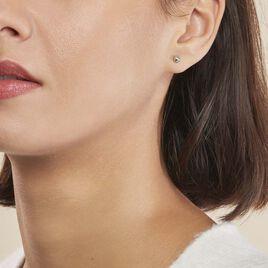 Boucles D'oreilles Puces Virgie Argent Blanc - Boucles d'oreilles fantaisie Femme | Histoire d'Or