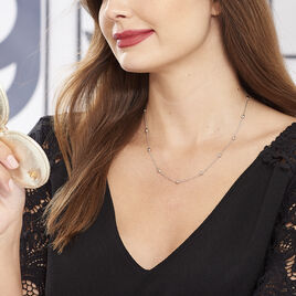 Collier Yily Argent Blanc - Colliers fantaisie Femme | Histoire d'Or