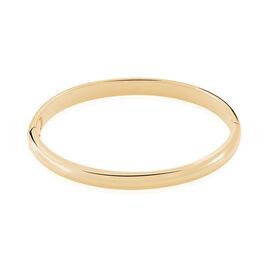 Bracelet Jonc Leonora Plaque Or Jaune - Bracelets joncs Femme   Histoire d'Or