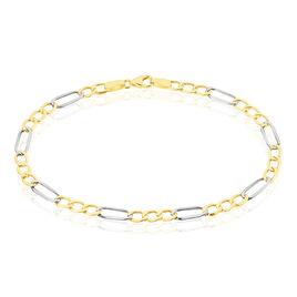 Bracelet Cameo Maille Alternee 1/3 Or Bicolore - Bracelets chaîne Femme | Histoire d'Or