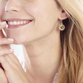 Boucles D'oreilles Pendantes Adar Argent Gris Ambre - Boucles d'oreilles fantaisie Femme | Histoire d'Or