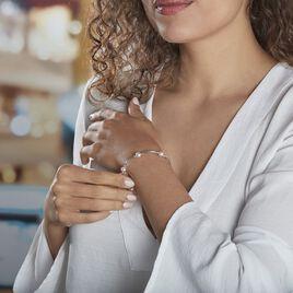 Bracelet Potatoes Argent Blanc Perle De Culture - Bracelets fantaisie Femme   Histoire d'Or