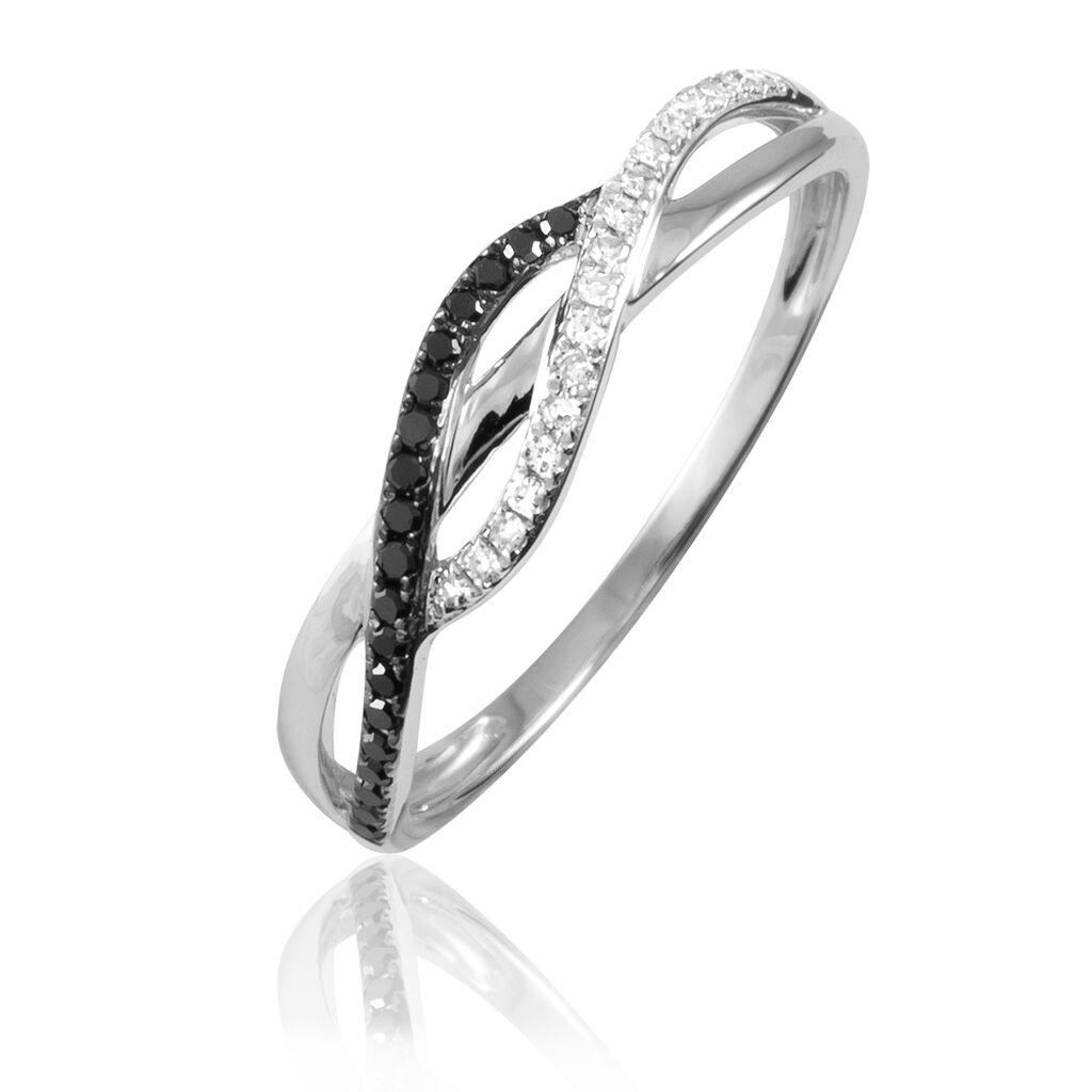 Bague Naciye Or Blanc Diamant - Bagues avec pierre Femme | Histoire d'Or