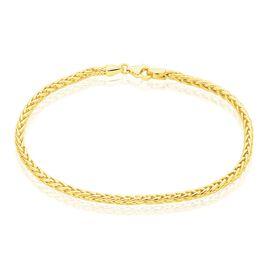 Bracelet Jayna Or Jaune Maille Palmier - Bracelets chaîne Femme   Histoire d'Or