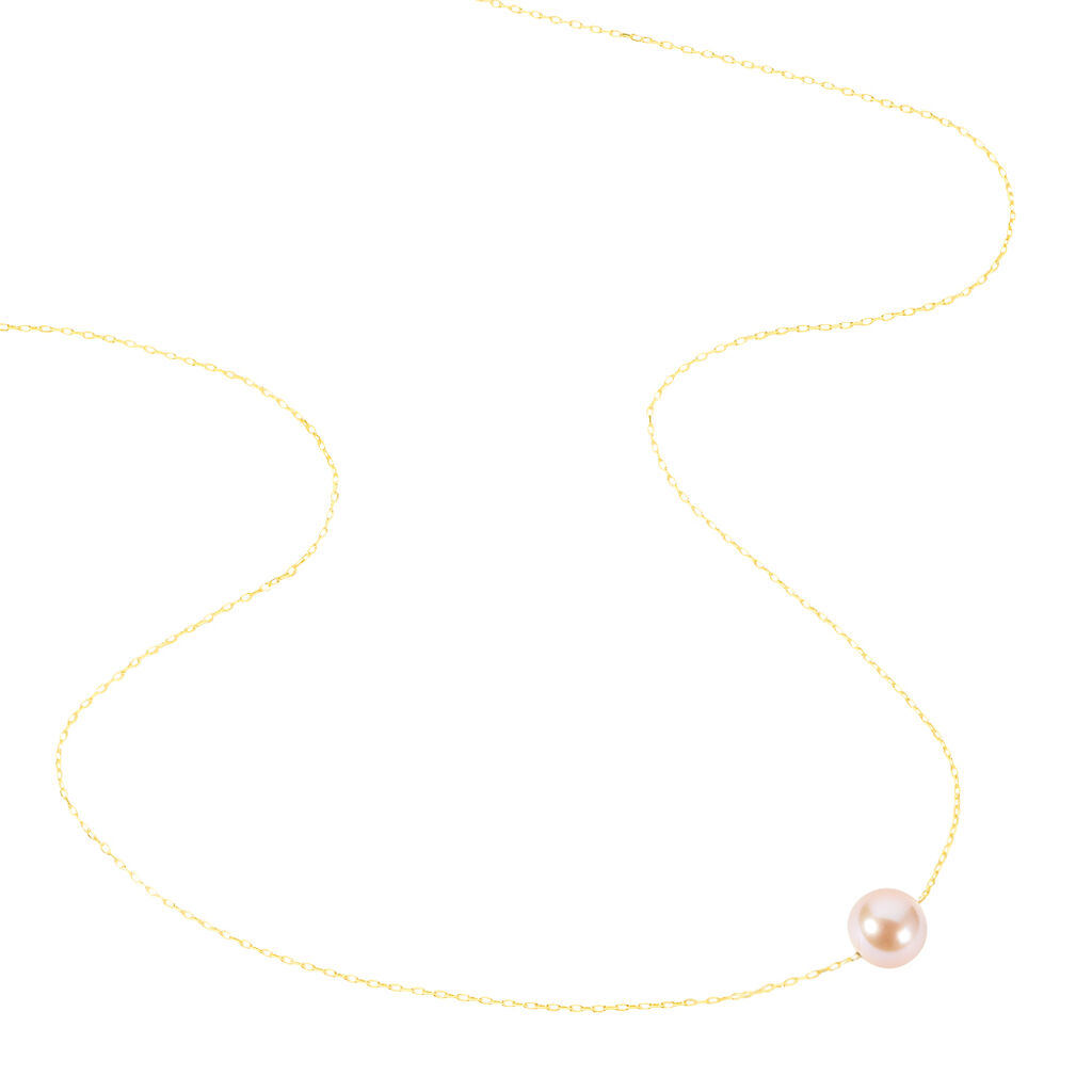 Collier Sissy Or Jaune Perle De Culture