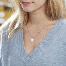 Collier Anaee Argent Blanc - Colliers fantaisie Femme | Histoire d'Or