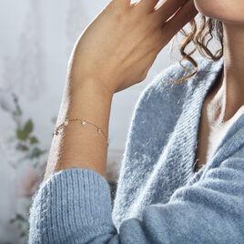 Bracelet Myosothis Plaque Or Oxydes De Zirconium - Bracelets fantaisie Femme   Histoire d'Or