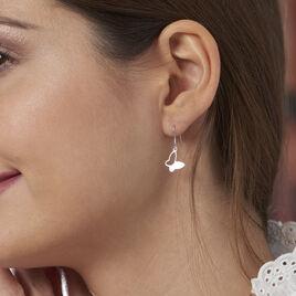 Boucles D'oreilles Pendantes Maria Argent Blanc - Boucles d'Oreilles Papillon Femme | Histoire d'Or
