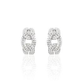 Boucles D'oreilles Pendantes Maryana Argent Blanc Oxyde De Zirconium - Boucles d'oreilles fantaisie Femme   Histoire d'Or