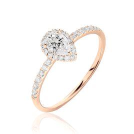 Bague Solitaire Tatiana Or Rose Diamant - Bagues avec pierre Femme | Histoire d'Or