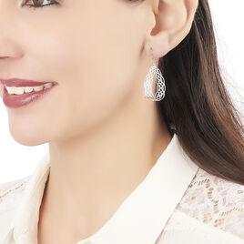 Boucles D'oreilles Pendantes Adelle Argent Blanc - Boucles d'oreilles fantaisie Femme | Histoire d'Or