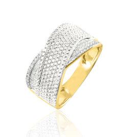 Bague Elyne Or Jaune Diamant - Bagues avec pierre Femme | Histoire d'Or