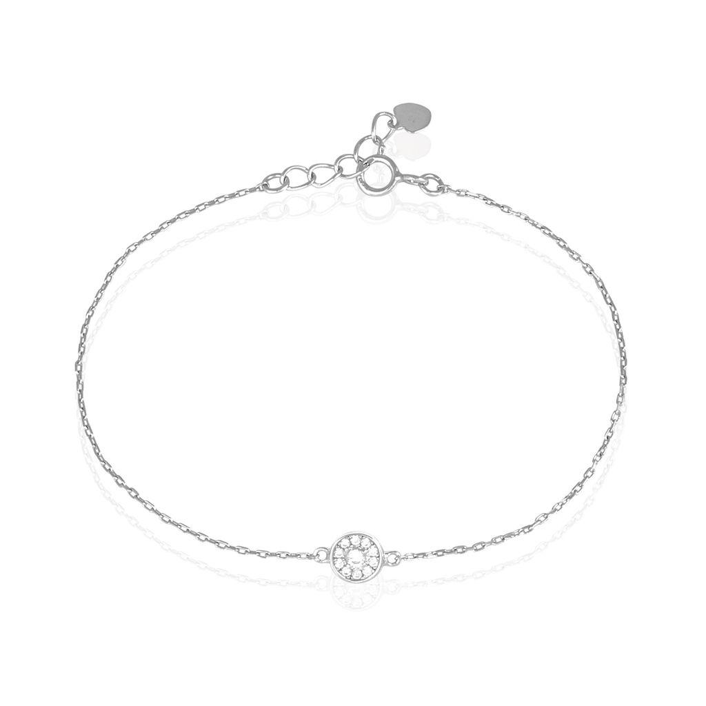 Bracelet Sabine Argent Blanc Oxyde De Zirconium - Bracelets fantaisie Femme | Histoire d'Or