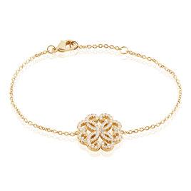 Bracelet Marguerita Plaque Or Jaune Oxyde De Zirconium - Bracelets fantaisie Femme | Histoire d'Or