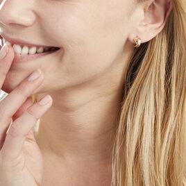 Boucles D'oreilles Pendantes Alrik Ruban Or Jaune - Boucles d'oreilles pendantes Femme | Histoire d'Or